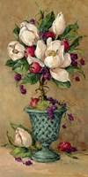 Magnolia Cluster Topiary I Fine Art Print