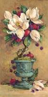 Magnolia Cluster Topiary 2 Fine Art Print