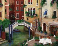 Trattoria by the Canal Fine Art Print
