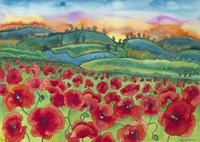 Magical Poppy Field Fine Art Print