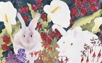 Bunnies with Callas Fine Art Print