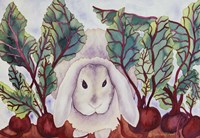 Bunny with Beets Fine Art Print