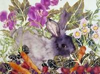 Rabbit with Carrots Fine Art Print