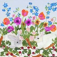 Rabbits And Carrot Fine Art Print