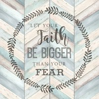 Let Your Faith Chevron Fine Art Print