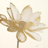 Vintage Lotus Cream I Fine Art Print