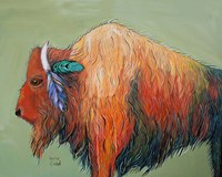 Warrior Bison Fine Art Print