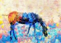 Mondrian Horse Fine Art Print
