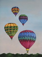 Balloons at Dawn Fine Art Print
