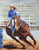 Barrel Racing Fine Art Print