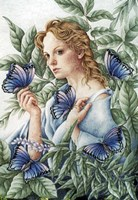 Butterfly Lady Fine Art Print