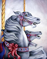 Carousel Horses Fine Art Print