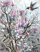 Hummingbird Tapestry Fine Art Print