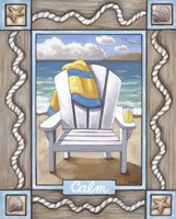 Beach Chair Calm Fine Art Print