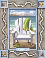Beach Chair Relax Fine Art Print