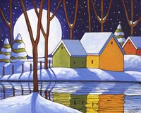Reflection Winter Night Fine Art Print
