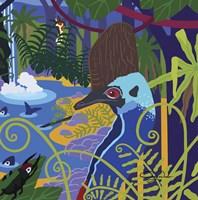 Cassowary In The Rainforest Fine Art Print