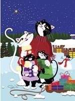 Christmas Cats Theme Christmas Star V2 Fine Art Print