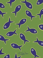 Lime With Purple Fish Fine Art Print