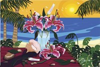 Tropical Bouquet With Sea Shells Fine Art Print