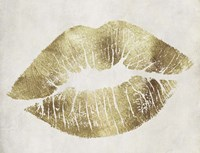 Hollywood Kiss Gold Fine Art Print