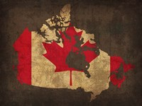 Canada Country Flag Map Fine Art Print
