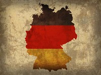 Germany Country Flag Map Fine Art Print