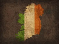 Ireland Country Flag Map Fine Art Print