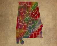 AL Colorful Counties Fine Art Print