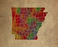 AR Colorful Counties Fine Art Print