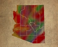AZ Colorful Counties Fine Art Print