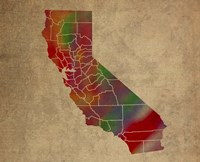 CA Colorful Counties Fine Art Print