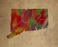 CT Colorful Counties Fine Art Print