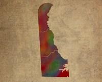 DE Colorful Counties Fine Art Print