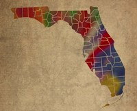 FL Colorful Counties Fine Art Print
