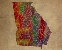 GA Colorful Counties Fine Art Print