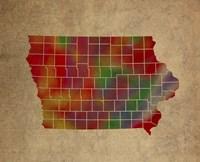 IA Colorful Counties Fine Art Print