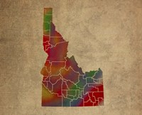 ID Colorful Counties Fine Art Print