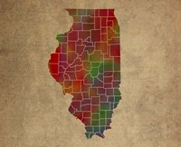 IL Colorful Counties Fine Art Print