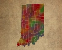 IN Colorful Counties Fine Art Print