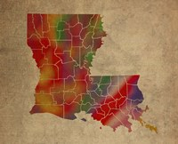 LA Colorful Counties Fine Art Print