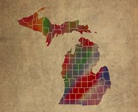 MI Colorful Counties Fine Art Print