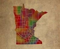 MN Colorful Counties Fine Art Print