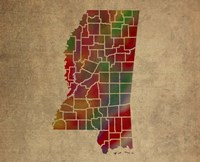 MS Colorful Counties Fine Art Print