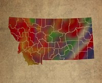 MT Colorful Counties Fine Art Print