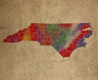 NC Colorful Counties Fine Art Print