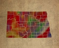 ND Colorful Counties Fine Art Print
