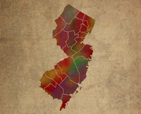 NJ Colorful Counties Fine Art Print