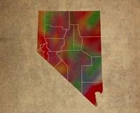 NV Colorful Counties Fine Art Print