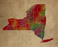 NY Colorful Counties Fine Art Print